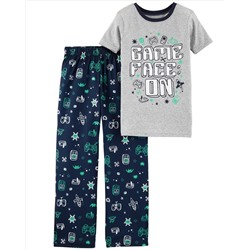2-Piece Gamer Cotton & Poly PJs