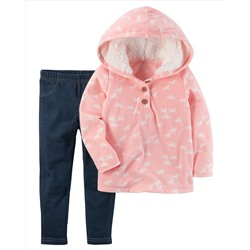 2-Piece Horse Hoodie & Jegging Set