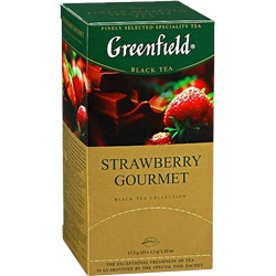 Greenfield. Strawberry Gourmet карт.пачка, 25 пак.