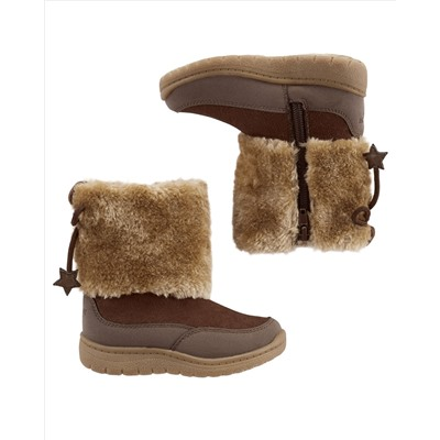 OshKosh Brown Fur Winter Boots