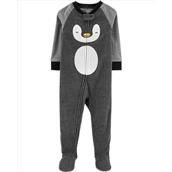 1-Piece Penguin Fleece PJs