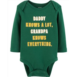Grandpa Knows Everything Collectible Bodysuit