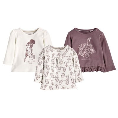 LUPILU® PURE COLLECTION Baby Mädchen Langarmshirt