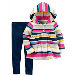 2-Piece French Terry Hoodie & Legging Set